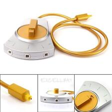 Digital Audio Optical Fiber Cable Toslink 3-Way Selector Switch 3 To 1 Hifi DVD