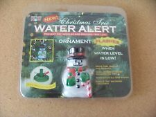 Christmas Tree Water Alert - Snowman ornament prevent dry needles last longer