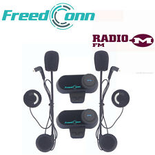 2 x 800M Interphone BT Bluetooth Moto Casco Moto Interfono+FM Cuffie
