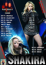 "SHAKIRA ""SHE WOLF TOUR"" 2010 UNITED STATES CONCERT POSTER - Pop, Latin Pop,Dance"