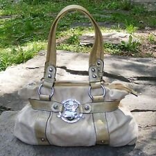 "KATHY VAN ZEELAND Hobo Bag, Ivory Pebble finish Double Strap, KVZ Purse L15"" D5"""
