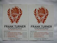 "FRANK TURNER Live ""The Tape Deck Heart"" UK Arena Tour 2014 Promo tour flyers x 2"
