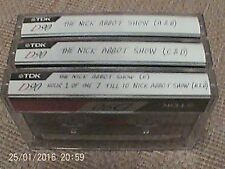 3 used blank archived AUDIO CASSETTE tapes - RARE RECORDINGS : Nick Abbot