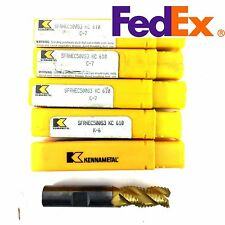 "LOT OF 5 KENNAMETAL CARBIDE ROUGHING ENDMILL 1/2"" x 1/2"" x 1"" x 3""  Z3 FOR STEEL"