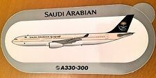 SAUDI ARABIAN, Airbus A330-3, Original, High Quality Print, new, HIGHLY RARE !!!