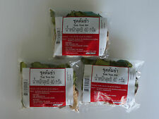 Tom Yum Set - Dried Herbs for Traditional Thai Spicy Soup - 3x40g (3x1.41oz)