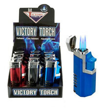 Victory Torch Butane Refillable Adjustable Lighter For Cigar Smoking Many Colors