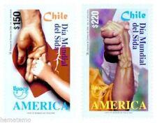 Chile 2000 #2014-15 Serie America Dia Mundial del Sida Aids MNH