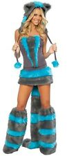 SUIT HALLOWEEN COSTUME CAT CHESHIRE ALICE WONDERS FOR WOMEN