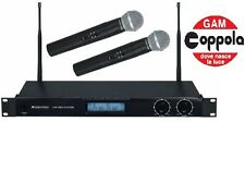 Omnitronic vhf-450 kit microfono professionale per karaoke