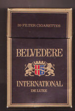 Empty Packet 20 Belvedere International De Luxe Low to Middle Tar