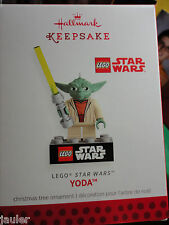 HALLMARK Christmas ornament YODA Star Wars LEGO Legos NEW 2013