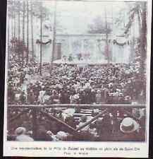 ANNEES 20  --  SAINT DIE  REPRESENTATION DE LA FILLE DE ROLAND THEATRE PLEIN AIR