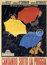 Singing In The Rain Vintage Italian Movie Poster  18x24