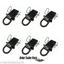 6 Removable Stake Pocket D-Ring s for Flatbed & Utility Trailers with pockets