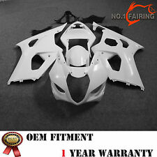 ABS Unpainted Bodywork Fairing Kit For Suzuki GSX-R 1000 2003 2004 Pre-drilled