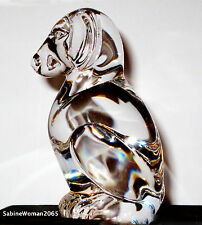 NEW in BOX STEUBEN art Glass PUPPY DOG crystal ornamental paperweight heart love