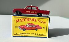 Vintage Matchbox Lesney Fire Chief's Car  59 MIB Nice!!!