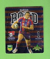 TIP TOP NRL 2013 RUGBY LEAGUE FOOTY SUPERSTARS TAZO #15  DARIUS BOYD, NEWCASTLE