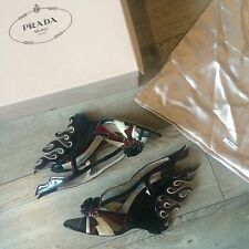 RARE NWB Prada Flame Collection Wedges 39