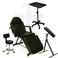 InkBed Tattoo Package Massage Table Chair Arm Bar Ink Bed Tray Salon Equipment