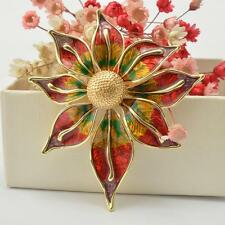 Wedding Bridal Party Vintage Women Colorful Large Flower Alloy Brooches Pins