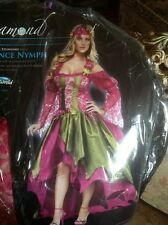 ADULTS WOMENS RENAISSANCE STYLE FAIRY QUEEN SEXY FANCY DRESS COSTUME