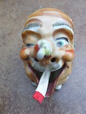 Vintage Funny/Ugly Face Man's Head Ashtray~Made In Japan