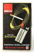 12 X RARE VINTAGE IMCO LIGHTERS TRIPLEX STREAMLINE 6800 + DISPLAY BOX NEW NOS !