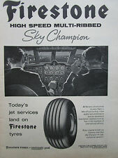 1/1965 PUB FIRESTONE TYRE PNEU AVIATION AVION SKY CHAMPION ORIGINAL AD