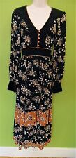 Monsoon Classic Black Multi Coloured Floral Layered Dress Size 10