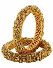 South Indian DISHI Traditional Wedding Jewellery Ethnic Gold Plated  Bangles