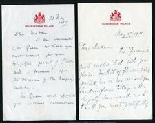 FOUR BUCKINGHAM PALACE LETTERS LADY IN WAITING QUEEN MARY MISS WINIFRED DUNCAN