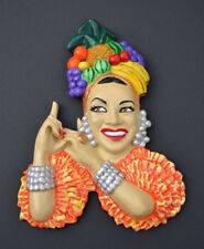 Carmen Miranda Fruit Hat Vintage Retro Figurine Wall Mask Head 40s 50s Chalkware