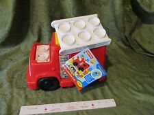 Fisher Price Little People builders Build n Drive Fire Truck Toy Red engine Part