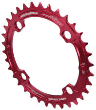 Race Face Single Narrow Wide 1x MTB Chainring - 104mm BCD 34t Red