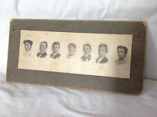 Large Rectangular Cabinet Card - 7 Portraits On One Card ! Bruce, Wis