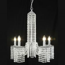 Endon Kalimba Five Light Chrome and Crystal Pendant