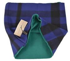 New Burberry Brit $350 Blue Green Cashmere Wool Nova Check Snood Infinity Scarf