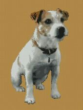 """Jack Russell Dog puppy Counted Cross Stitch Kit 10"""" x 13"""" D2418 FREE p&p"""