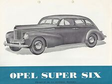 ✇ Original Prospekt brochure OPEL SUPER SIX 6 von GM von 1937