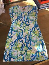 Lilly Pulitzer dress designer gold buttons on shoulder new with tag