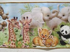 CUTE BABY AFRICAN ANIMALS  Wallpaper Border 8 1/4 ""