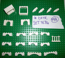 White Arch 1x4 1x6 3455 6182 3659 4132 50950 Lattice Fence 30055 LEGO SET 7586