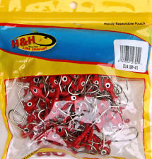 100 DOUBLE EYE 1/4 OZ RED SALTWATER JIG HEADS