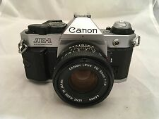 Canon AE-1 Program Film Camera & Canon FD 50mm F1.8 Lens - Excellent Condition