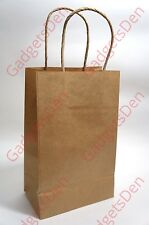 "25Pcs Paper-Carrier-Shopping-Bags-with-Twisted-Paper-Handles (Brown)  8"" x 10"""