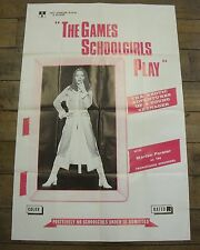 THE GAMES SCHOOLGIRLS PLAY 1970s EROTIC FILM MOVIE POSTER Josephine Mutzenbacher