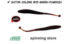 "SATOR WORM 4"" MOLIX COL 25 GREENPUMPKIN RED FLAKE"