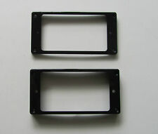 2x Black Humbucker Pickup Ring Curved Bottom Frame fits Epiphone LP Guitar